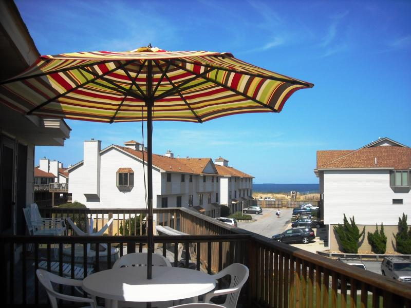 A View of the Ocean from the Upper Deck. 2012 - Pristine Oceanside Home with Ocean View - Kitty Hawk - rentals