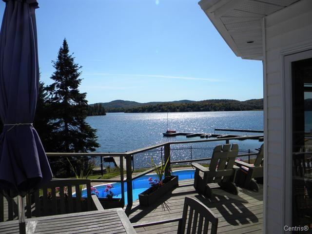 lakeview from deck - Luxurious Lakefront  Home, Mt.Tremblant  Region. Autumn Special - Mont Tremblant - rentals