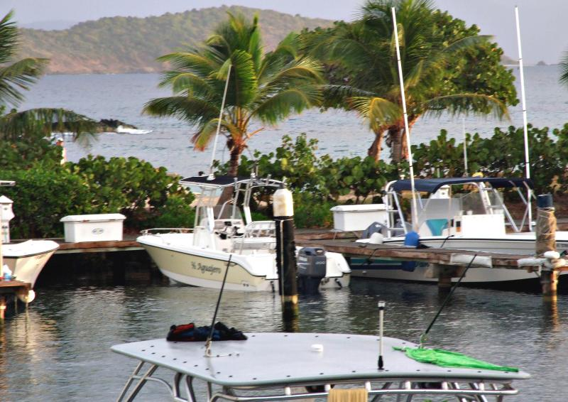View from balcony, St John in distance - St Thomas Sapphire Village Marina Studio Condo - Red Hook - rentals