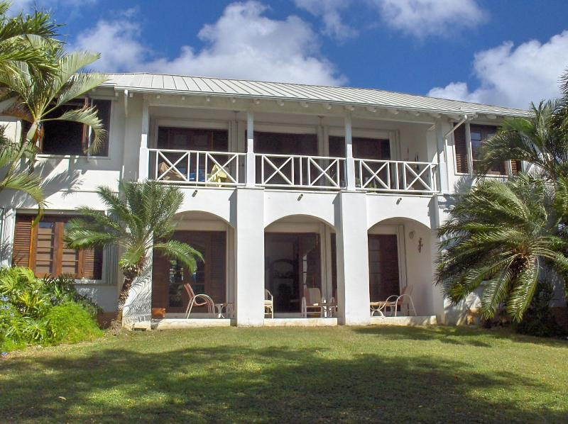 2nd floor gallery/balcony which overlooks golf course - Tranquility at St. Croix Villa on Carambola Golf Course- Book early for winter 2015 - Discounted Rates - Saint Croix - rentals