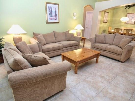 Living Area - OT5P3048SHC 5 BR Cozy Pool Home with Stylish Interior - Clermont - rentals