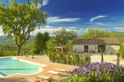 Pool and front of house - 20%dsc. Luxury villa 10, priv.pool, stunning views - Caprese Michelangelo - rentals