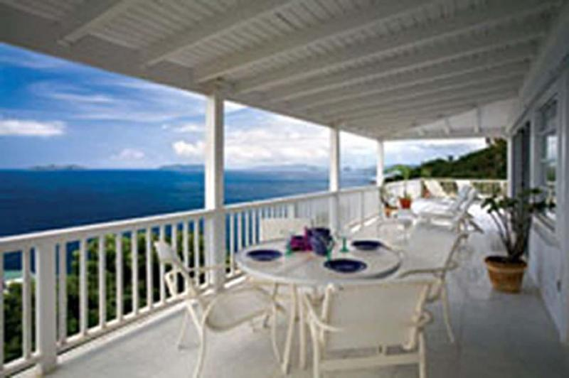 Deck View looking toward British Virgins - Carefree-Vacation with View-3BR Mahogany Run Villa - Mahogany Run - rentals