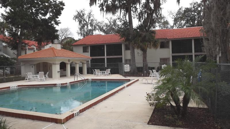 Pool and covered kitchen - Relaxing Retreat in the Heart of Vacation Country - Titusville - rentals
