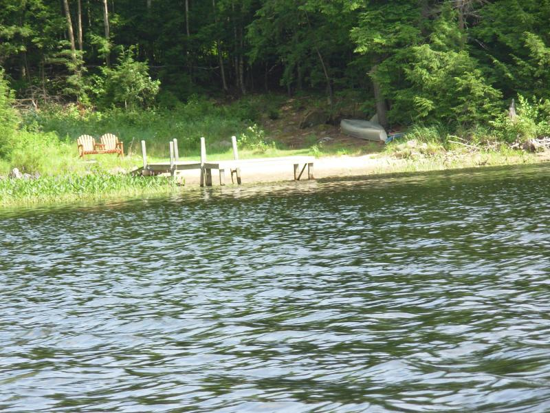 beach front from the water - Adirondack, Schroon Lake,Thurman Pond-Loon Lodge - Schroon Lake - rentals