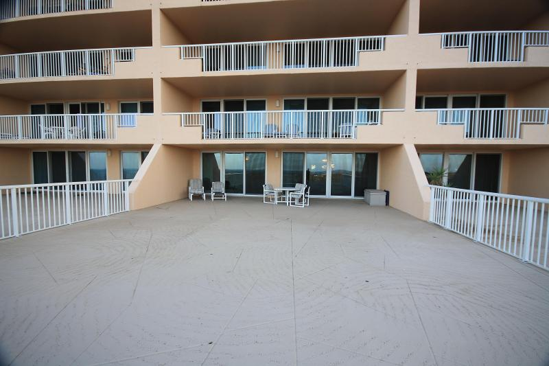 Extra Large Deck on this 1st Floor Unit - Inlet at Minorca 103- Huge Patio Overlooking Beach - New Smyrna Beach - rentals