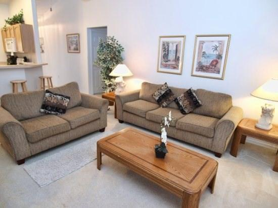 Living Area - PAW3P137PWP 3BR Family Friendly Townhome with a Pool - Davenport - rentals