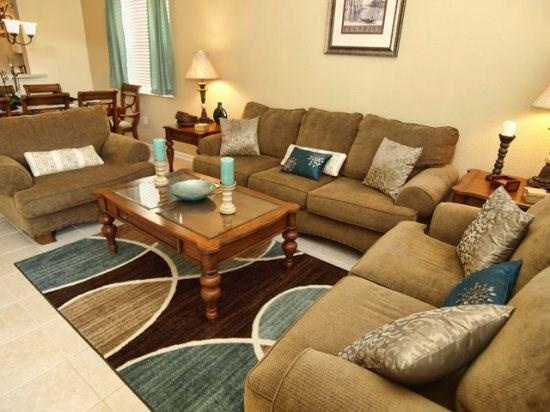 Living Area - WH6P7729TB 6 BR Villa Close to Major Orlando Attractions - Kissimmee - rentals