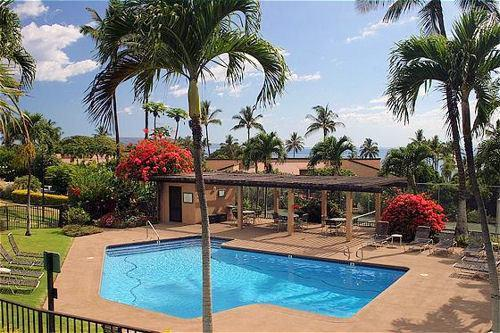 View of quiet Pool #3 from our Terrace - Wailea Ekahi, Privacy and Luxury - $119-239/nt - Wailea - rentals