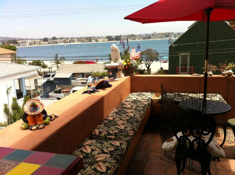 Balcony & Bay View Off Living Room - Fabulous Home in Heart of Mission Beach - San Diego - rentals