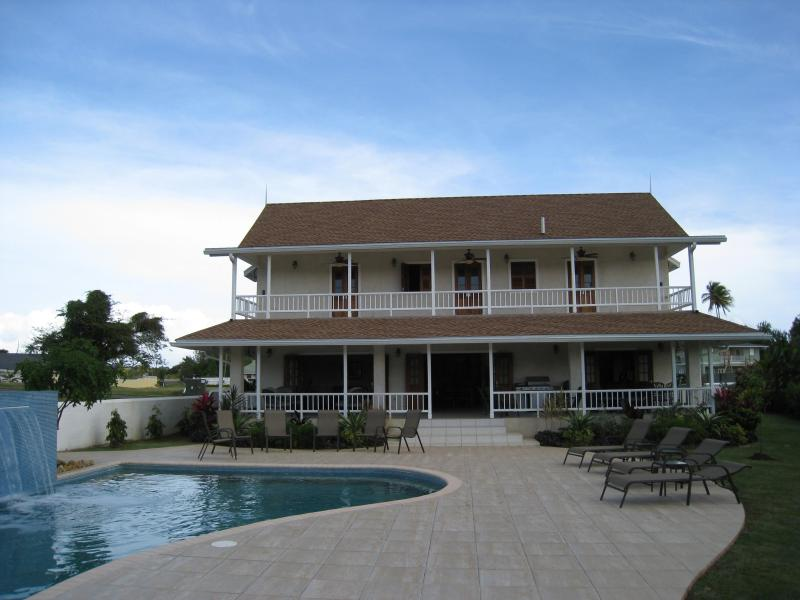 View of the house from the deck - Large villa with 50ft pool in Samaan Grove Tobago - Canaan - rentals