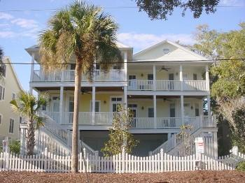 The house has several decks & screened porches to enjoy the marsh breezes - Carolina Dreamin' - Short Walk to Beach - Edisto Beach - rentals