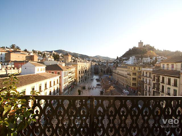 Wonderful view from the balcony towards the Alhambra, Albaicín and Sacromonte. - Duplex Terrace | Split-level apartment with views - Granada - rentals