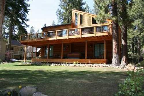 Back yard of this lovely home  - Mcavoy - Dollar Point luxury filtered lakeviews - Tahoe City - rentals