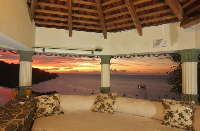 Incredible views from the Infinity pool Gazebo - Tropical Hideaway-Stunning views- 5* Accommodation - Bequia - rentals