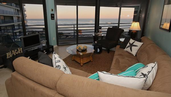 Beautiful Views from Living Room - Luxury Holiday at 4th Floor Ebb Tide 403 - New Smyrna Beach - rentals