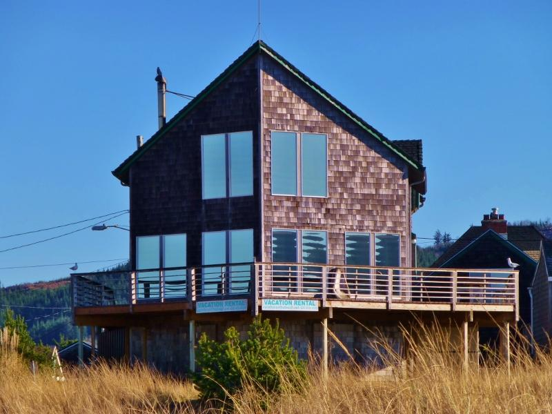 The Hayes Beach House from the beach. - The Hayes Beach House - Seaside - rentals
