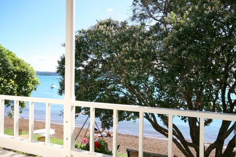 View of beach from balcony - The Gables Waterfront Apartment - Russell - rentals