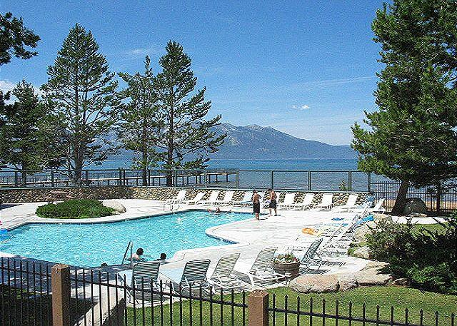 Tahoe Keys pool - Nicely furnished Tahoe Keys Condo with boat dock - South Lake Tahoe - rentals