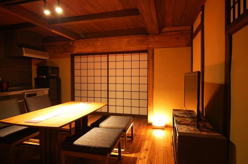 Main dining and kitchen - Traditional Kyoto house with modern facilities - Kyoto - rentals