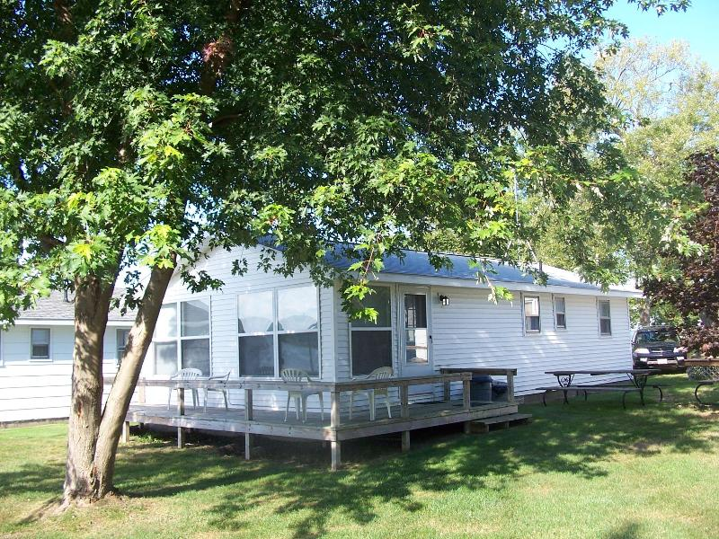 Front View of Cottage - Comfortable Newly Remodeled Lakefront Cottage - Onekama - rentals
