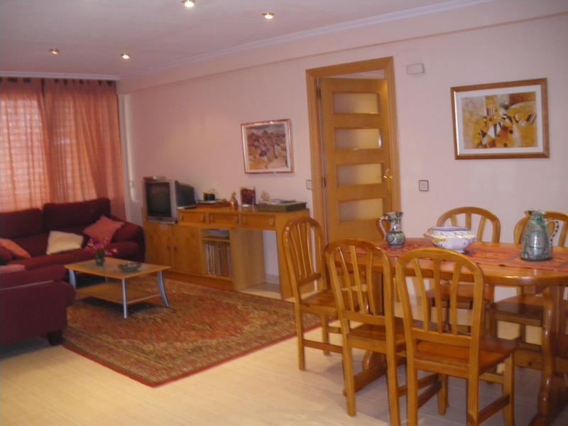 The living room and the dinning room. Airconditioned. - Ample, comfortable apartment in central Valencia - Valencia - rentals