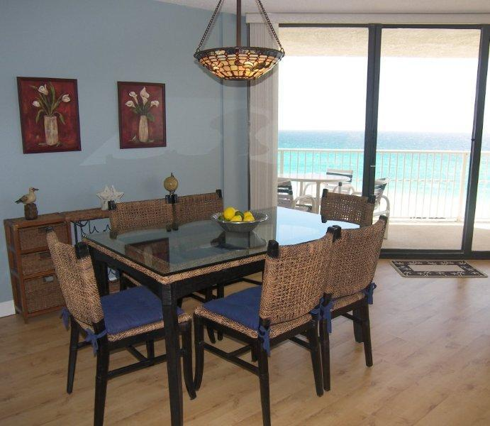 Dining Room with View - Beach Front Condo -3 Bed/2Bath -Stay 7/Pay 6- E906 - Panama City Beach - rentals