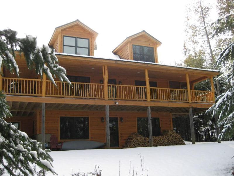 Lots of windows and a huge covered porch look towards the lake. - Haley Hideaway - Stunning lakefront cabin! - Rangeley - rentals