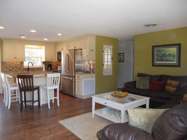 Open kitchen and Living Room - Steps to Ocean Ave Beach Walkway and Flagler Shops - New Smyrna Beach - rentals