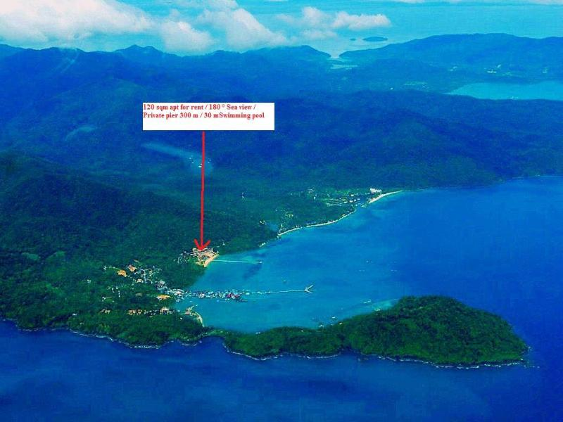 Aerial view and location of the apartment - 5 stars sea view 2 bedrooms apt  120 m² KOH CHANG - Koh Chang - rentals