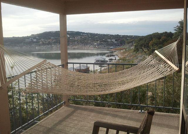 Extra large private patio with hammock over looking Lake Travis - Summer Special 25% Savings! Deep Water Dock & Private Boat Ramp! - Briarcliff - rentals