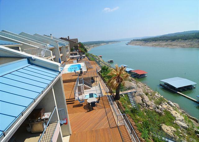 View from the 3rd level private balcony - Beautiful Waterfront Condo with Deep Water Boat Slip and Easy Boat Launch! - Spicewood - rentals