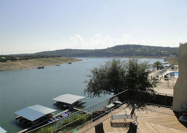 View from Balcony- Photo taken 11/02/12 - 3rd Night Free on Lake Travis! 2bdr 2bath Waterfront Condo w/ Hot Tub! - Spicewood - rentals