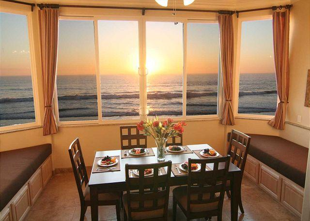 Dining room overlooking the ocean - Exquisite Ten Bedroom Oceanfront Home P328-X - Oceanside - rentals