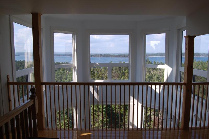 View from 2nd Floor Balcony Over 2-Story Atrium - SkyView on LaHave Island. Above Trees/Ocean Views! - Lunenburg - rentals