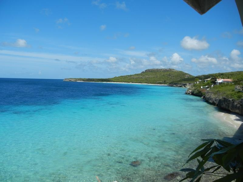 Can you handle the blue?  This is your deck view, where you have your morning coffee! - Award winning private getaway/beach ON the sea! - Curacao - rentals