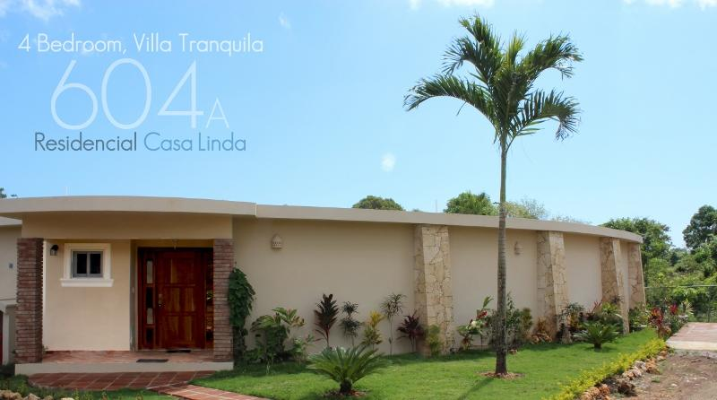 Villa Tranquila, landscaped  for your privacy and enjoyment, with palapa and TVs in main bedrooms!(604a) - Image 1 - Cabarete - rentals