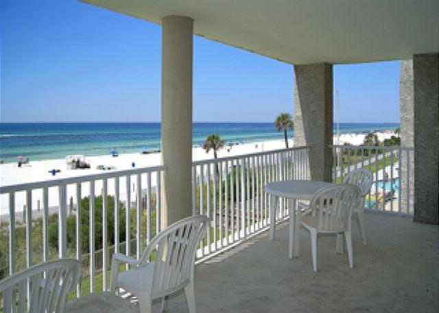 Balcony - BEACHFRONT FOR 8! OPEN 8/23-30! NOW 15% OFF! - Panama City Beach - rentals