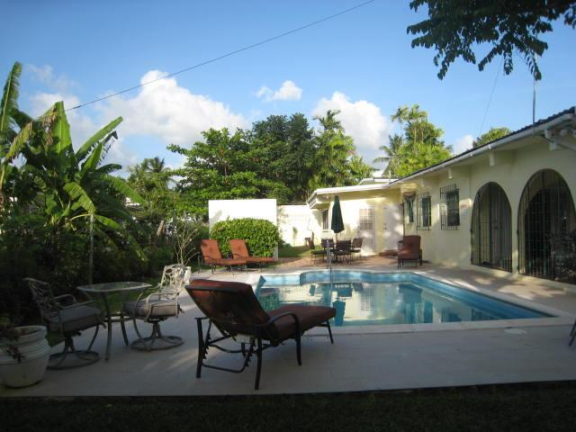 Pool view - West Coast villa -walk to beach restaurants shops - Holetown - rentals