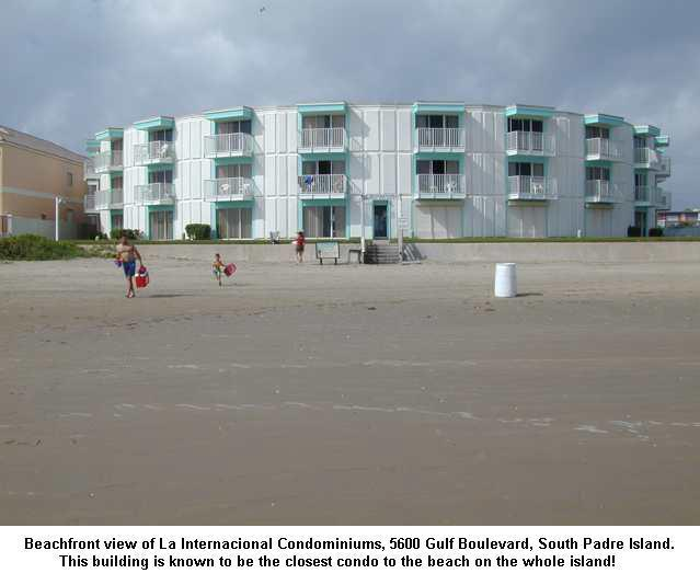 Beach side view of building - Internacional #211 - 86 Steps to the Beach - South Padre Island - rentals