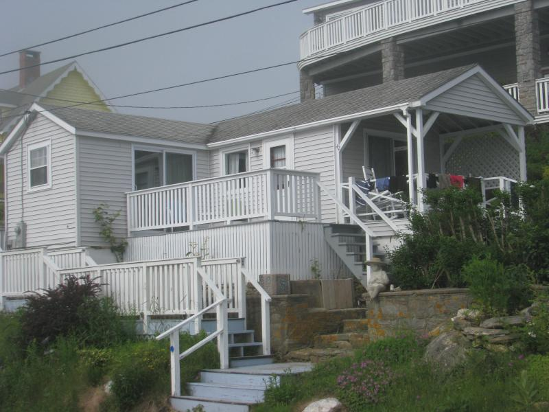 Front view of Cottage - Ocean and Harbor steps from your Cottage - Phippsburg - rentals