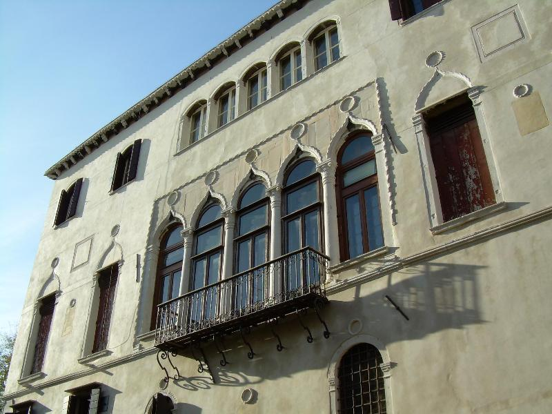 the gothic facade of the Palazzo - Typical, in an outstanding Gothic Palazzo - Venice - rentals