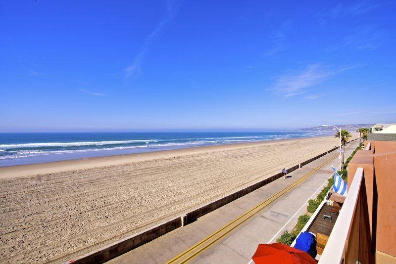 View from 3rd Level Deck - Jersey 4 - Mission Beach 3BR Oceanfront Gem - Mission Beach - rentals