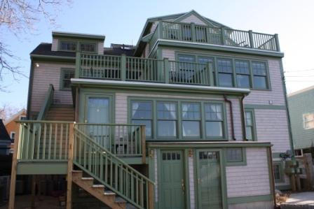 Back of One Main - The Penthouse at Pier & Main with Ocean Views! - Rockport - rentals