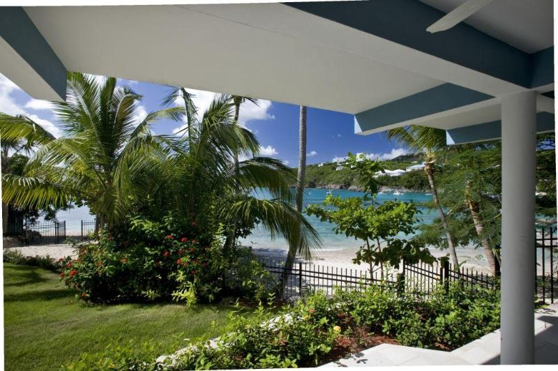 Looking out to your beautiful beach! - THE BEACH HOUSE, luxury Secret Harbor villa - Saint Thomas - rentals