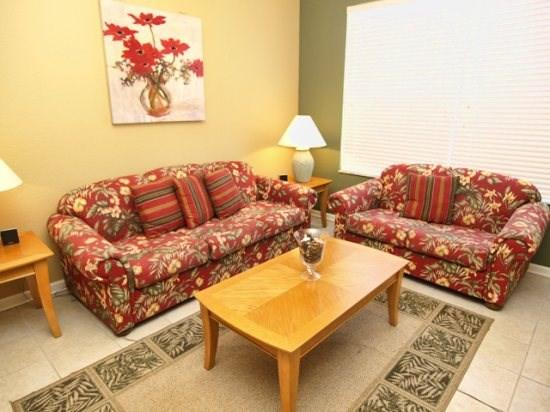 Living Area - WH3C7675 3 Bedroom Condo Home Fully Equipped - Kissimmee - rentals