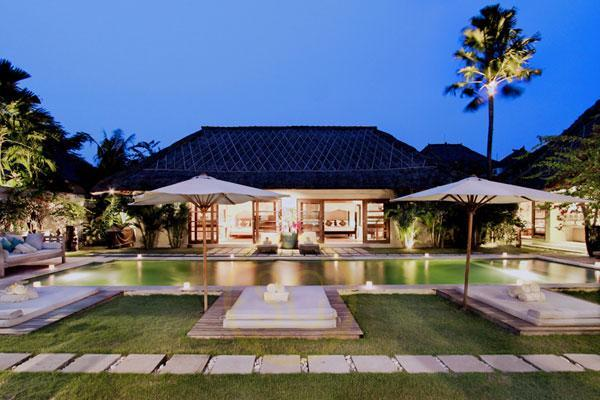 4 Bedroom Villa View from the 3 Bedroom Villa - Villa Massilia - 3, 6, 7 or 10 Bedroom Private Villas in Seminyak - Seminyak - rentals