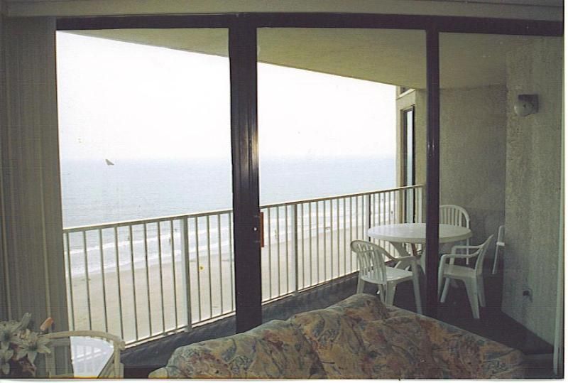 living room, balcony, ocean - 2 br/2bath condo direct ocnfront-So.Myrtle Beach - Garden City Beach - rentals