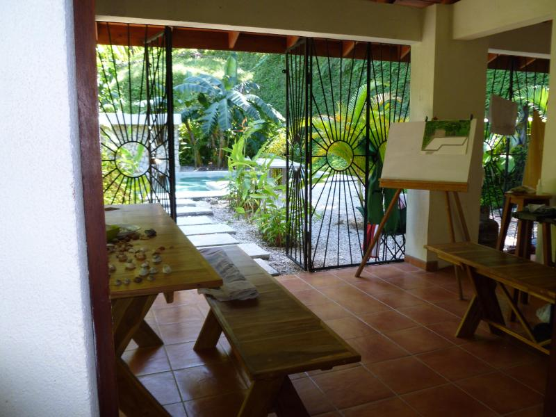 View from living room to pool/yard - Casa Celestial 3 bed 2bath Nosara Beach Costa Rica - Nosara - rentals