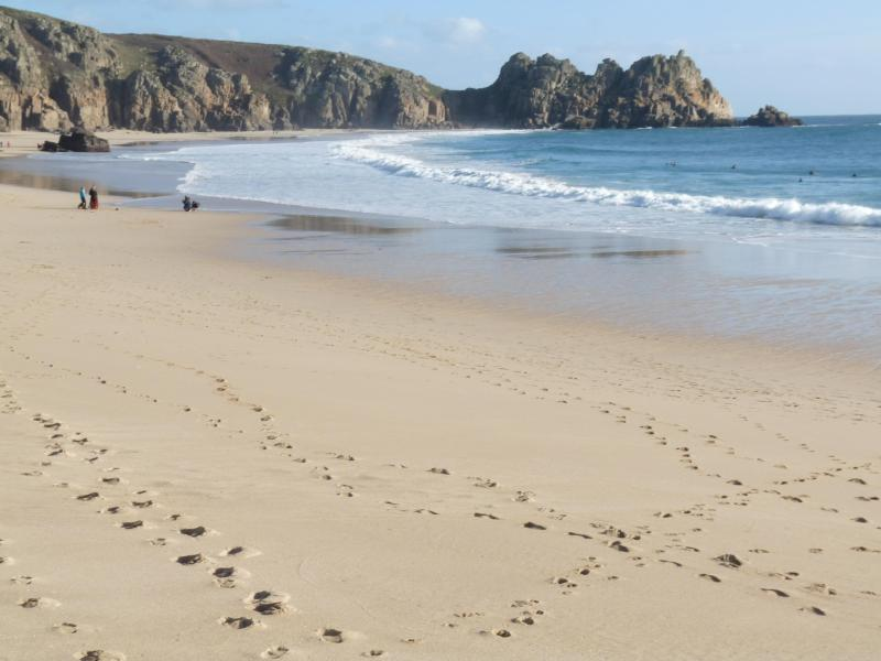 Porthcurno beach  - Wolf Rock Holiday Apartment in Porthcurno Cornwall - Penzance - rentals